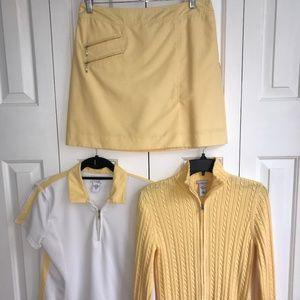 IZOD Golf Skirt, shirt, sweater set